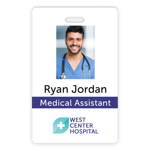 Medical Professional Photo ID Card - Name Tag Wizard