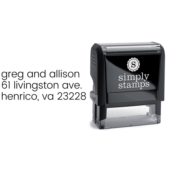 Minimalist Left Custom Address Stamp