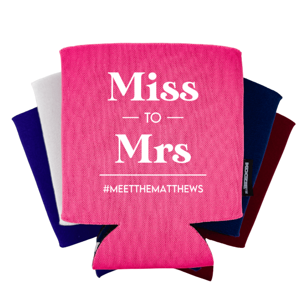 Miss to Mrs Bridal Shower Koozie®