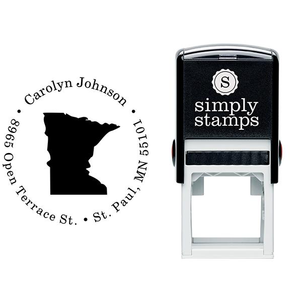 Minnesota Round Address Stamp Body and Design