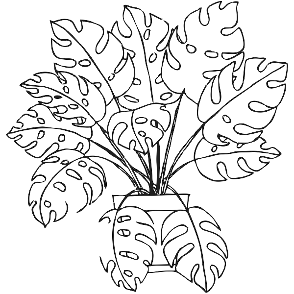 Monstera Plant Journal Stamp