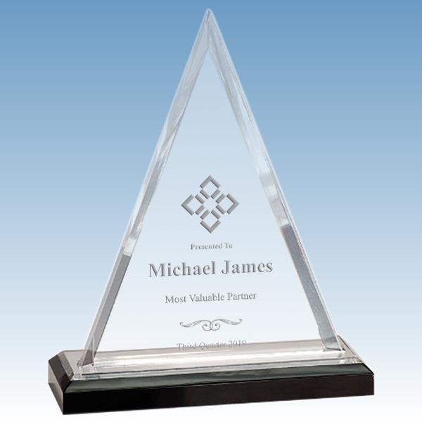 Most Improved Beveled Triangle Acrylic Award