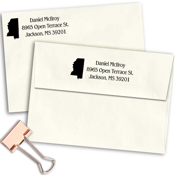 Mississippi Return Address Stamp Imprint Example