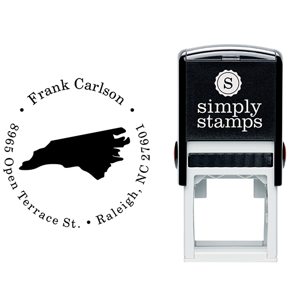 North Carolina Round Address Stamp Body and Design