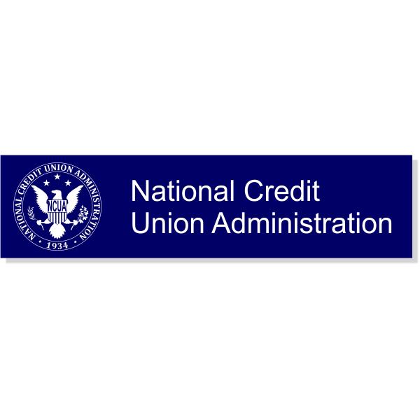 "NCUA Seal Wall Plate | 2"" x 8"""