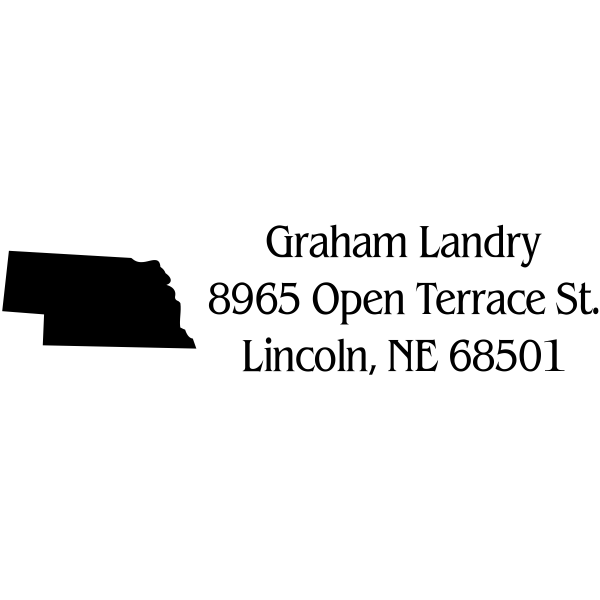 Nebraska Return Address Stamp
