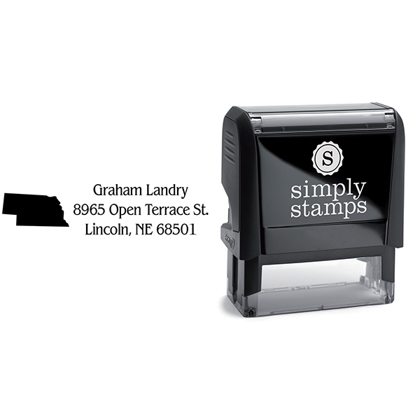 Nebraska Return Address Stamp Body and Design