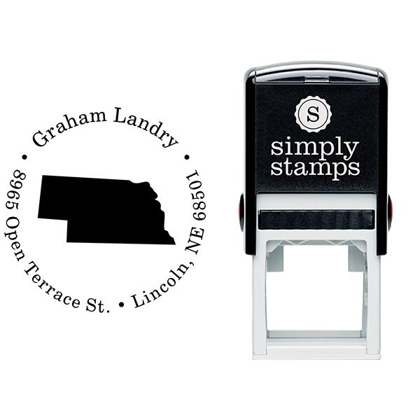 Nebraska Round Address Stamp Body and Design