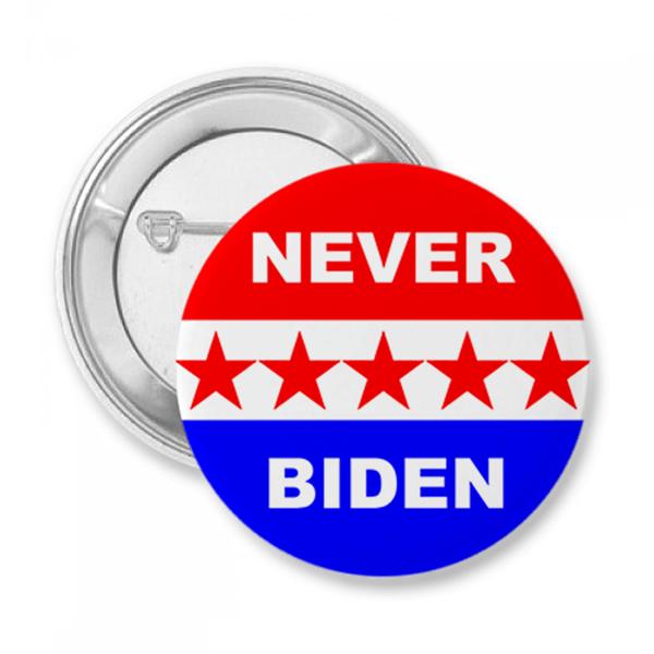 Never Biden Button