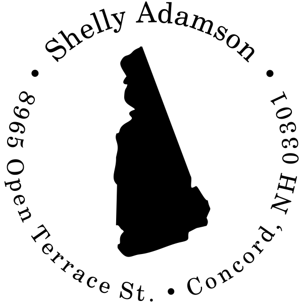 New Hampshire Custom Round Address Stamper