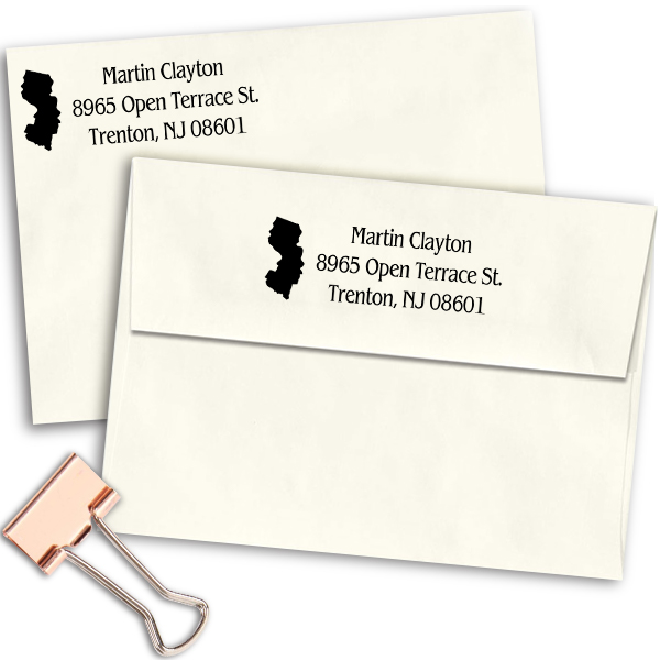 New Jersey Return Address Stamp Imprint Example