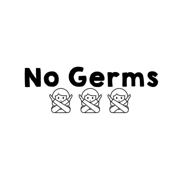 No Germs Teacher Stamp