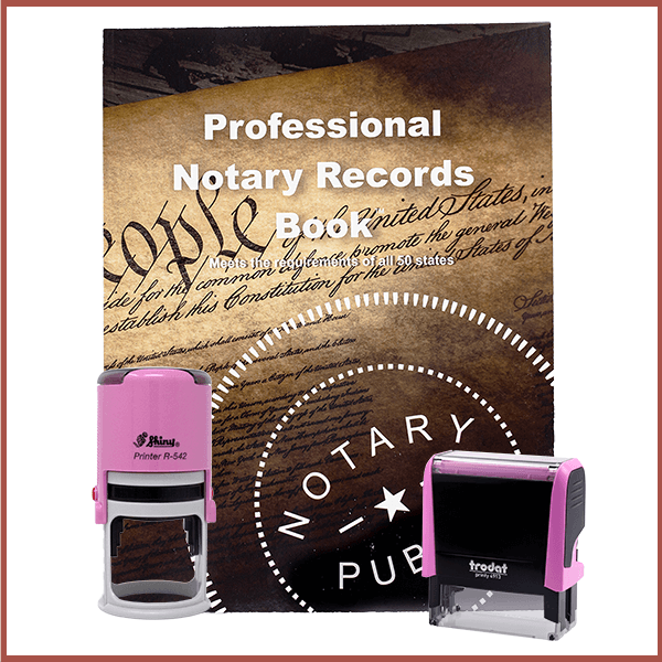 North Dakota Pink Value Notary Kit