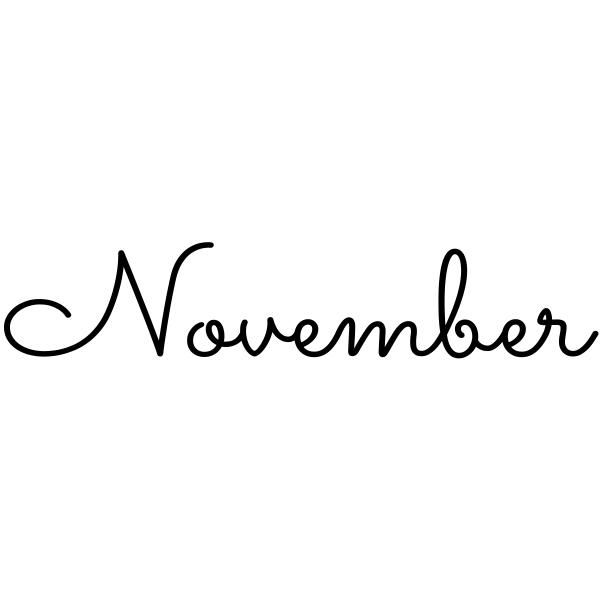 November Journal Stamp