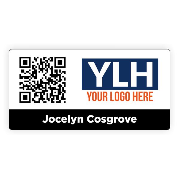 Custom QR Code Name Badge with Logo