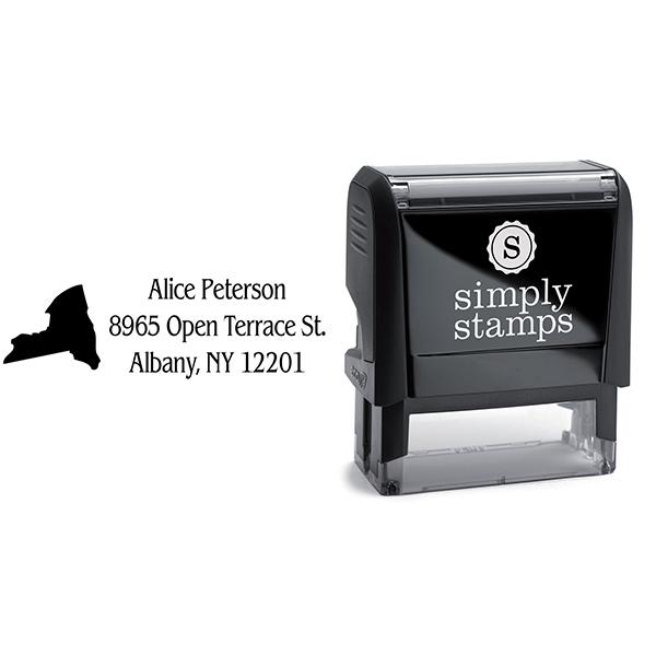 New York Return Address Stamp Body and Design