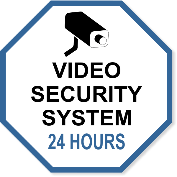 """Octagon Video Security System Vinyl Decal 