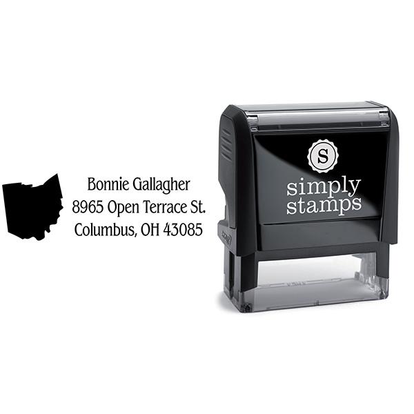 Ohio Return Address Stamp Body and Design
