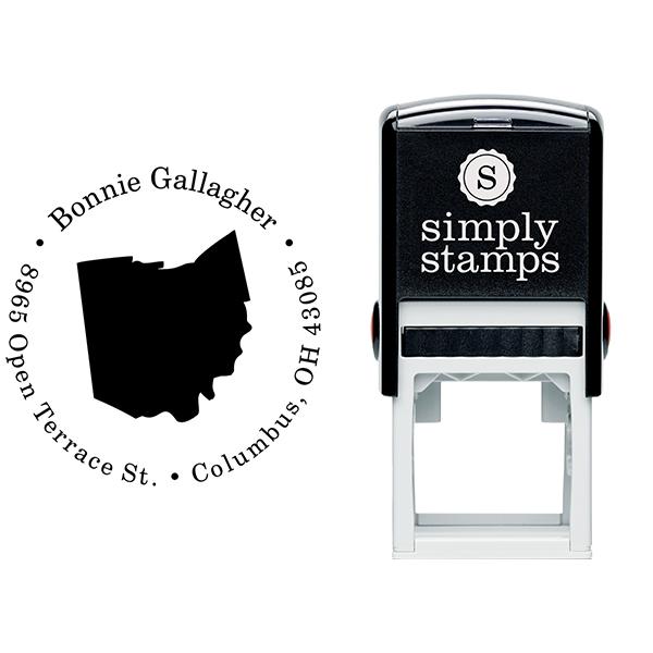 Ohio Round Address Stamp Body and Design