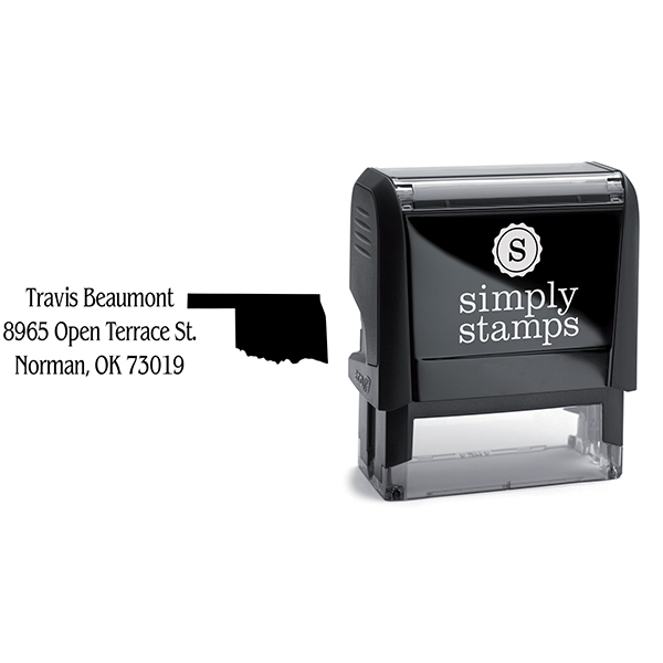 Oklahoma Return Address Stamp Body and Design