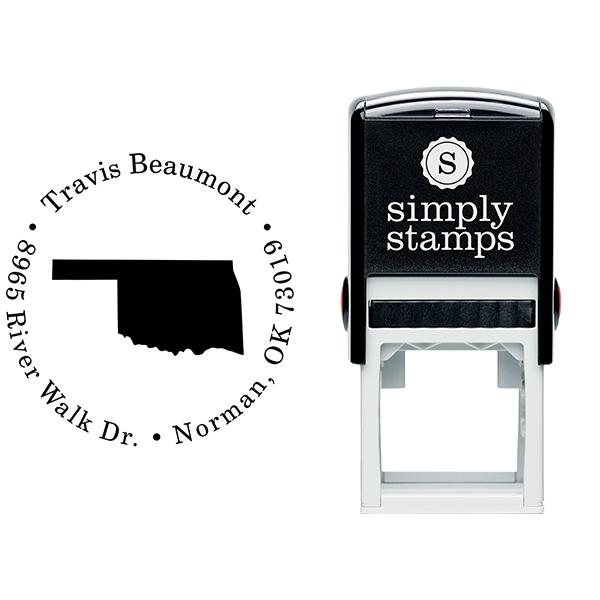 Oklahoma Round Address Stamp Body and Design