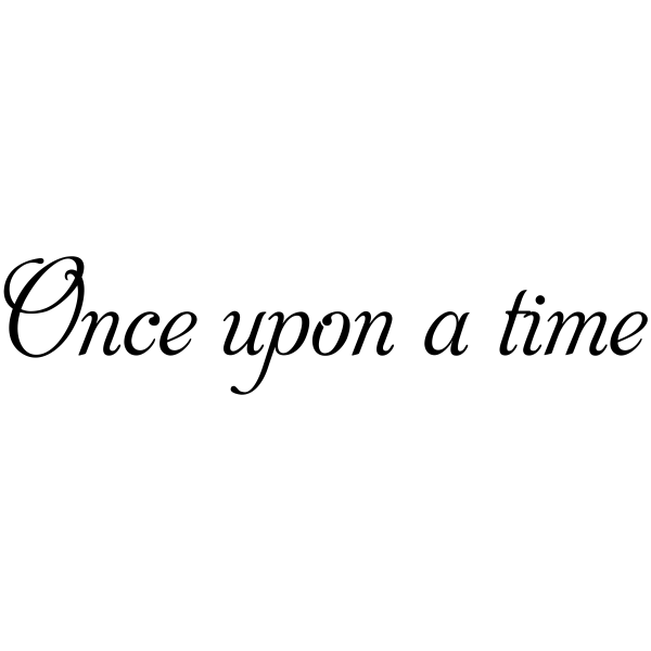 Once upon a time Rubber Stamp
