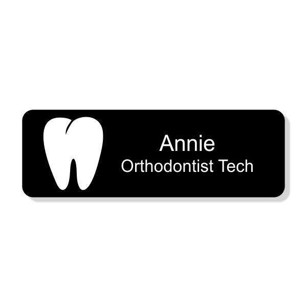 Orthodontist Tooth Dentist Name Tag