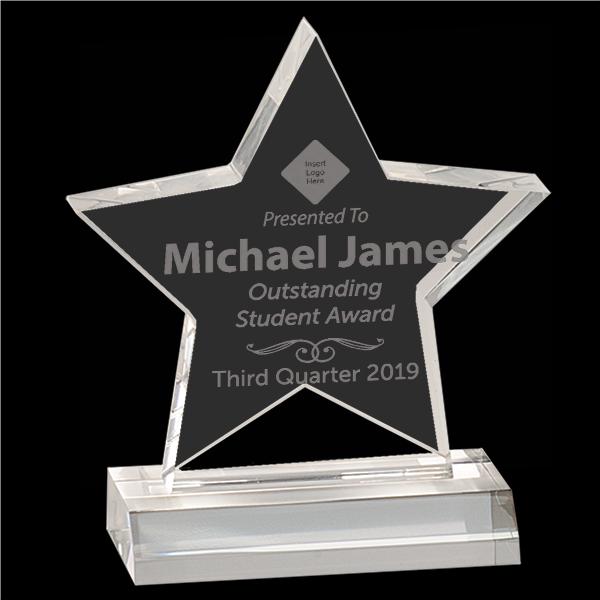 Outstanding Student Star Acrylic Award