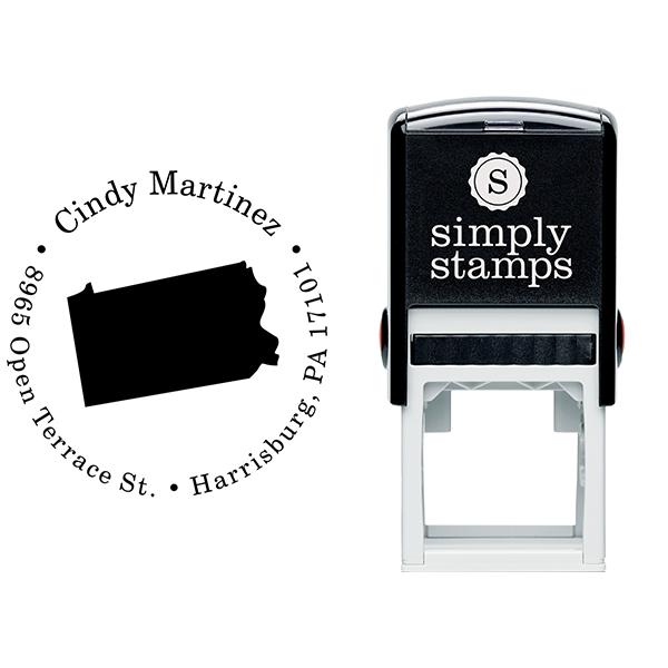 Pennsylvania Round Address Stamp Body and Design