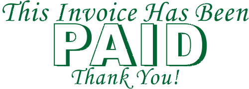 Paid Invoice Thank You Stamp