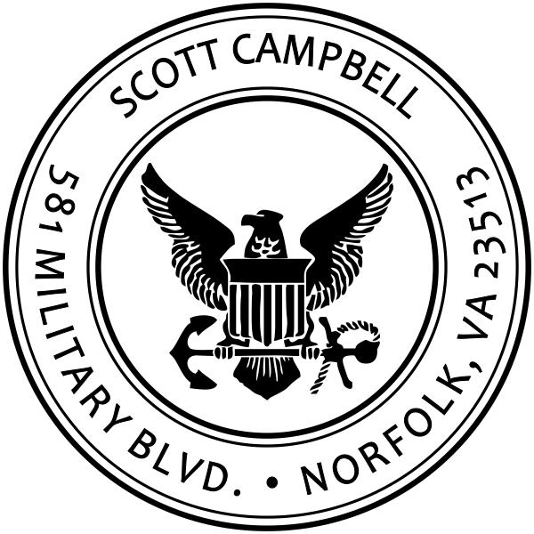 Return Address United States Navy Stamper