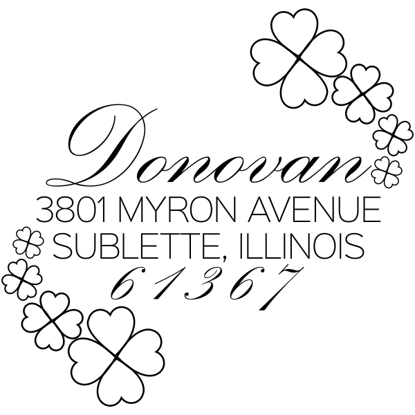 Donovan Script Address Stamp
