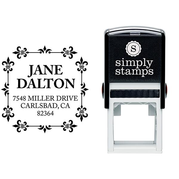 Alana Square Address Stamp Body and Design