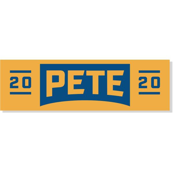 "Pete Buttigieg Presidental Campaign Bumper Sticker   3"" x 10"""