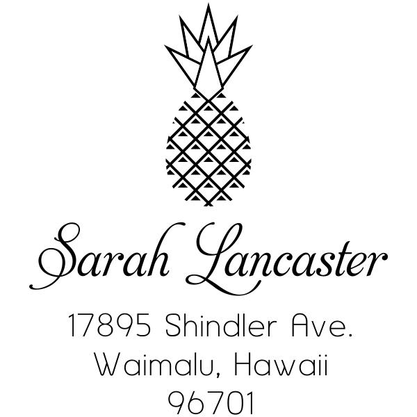 Lancaster Pineapple Address Stamp