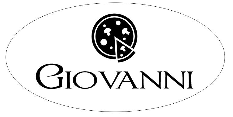 1 Line Italian Restaurant Oval Name Badge B