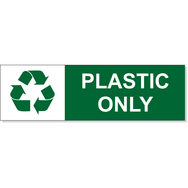 """Plastic Recycle Decal 