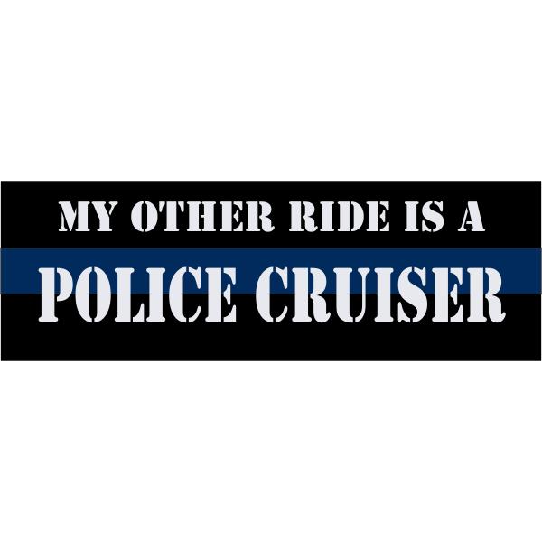 Police Cruiser Bumper Sticker