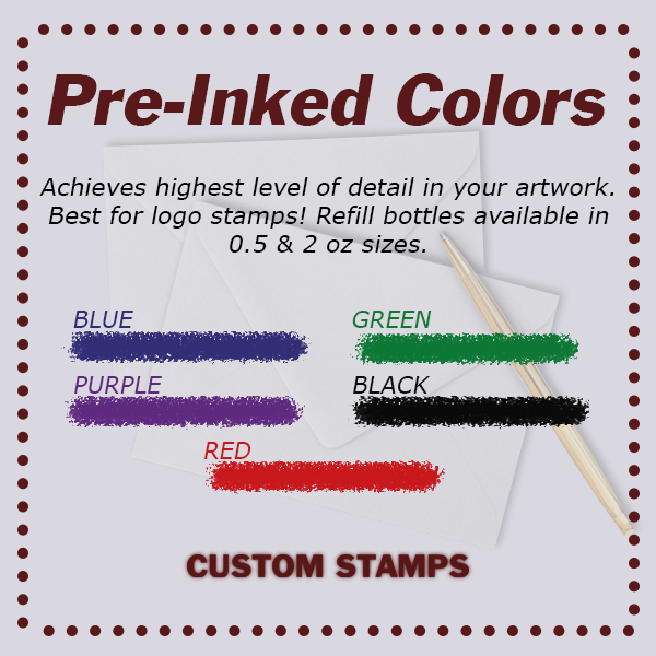 CurlyQ Script Monogram Address Stamp
