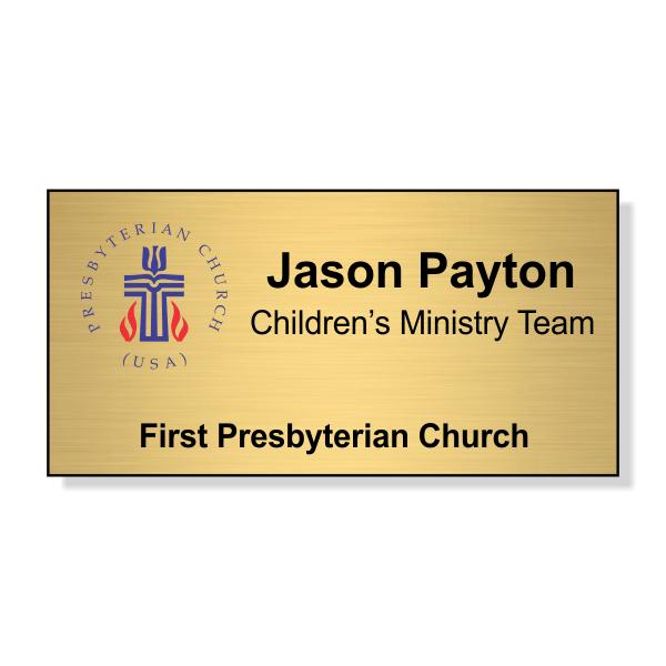 Presbyterian Full Color Name Tag - Large Rectangle