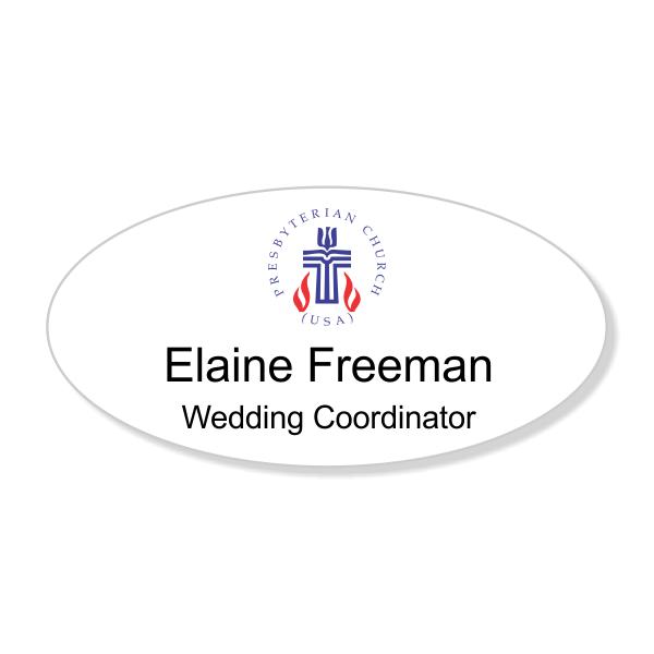 Presbyterian Full Color Name Tag - Oval