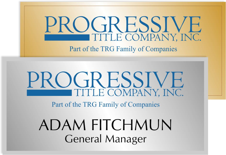 Progressive Title Name Badge
