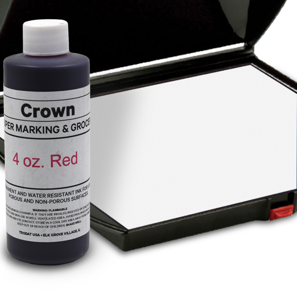 Red 4oz SuperMarking Ink w/ Large Pad