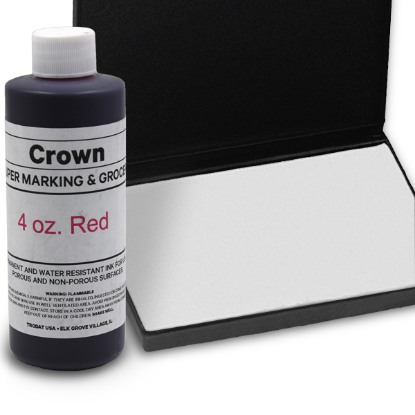 Red 4oz SuperMarking Ink w/ Medium Pad