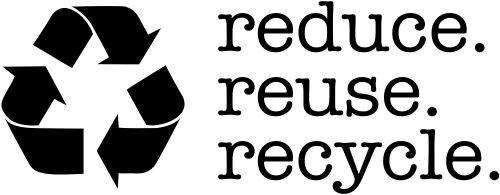 Reduce Reuse Recycle Rubber Stamp