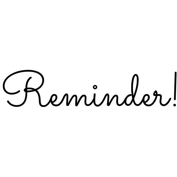 Reminder Journal Stamp
