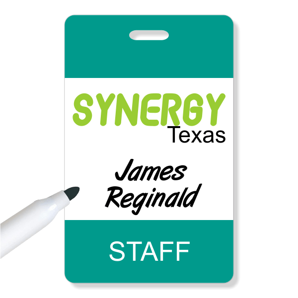 Reusable Conference ID Badge