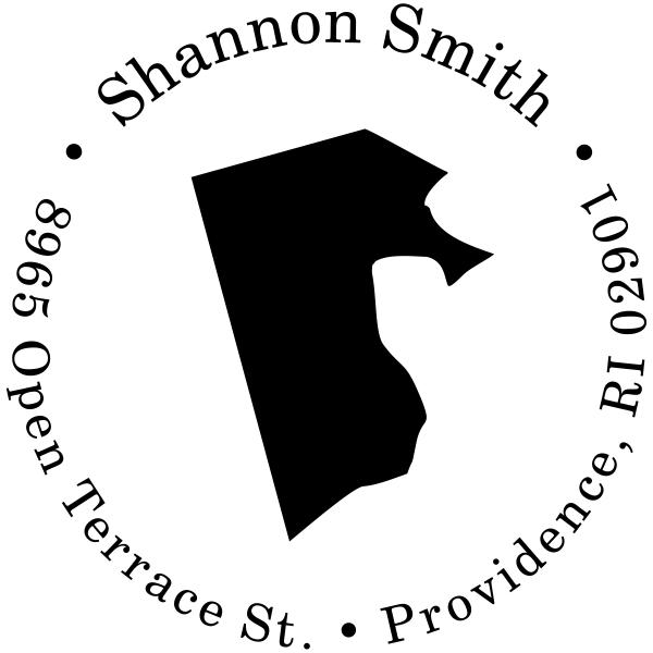 Rhode Island Round Address Stamp