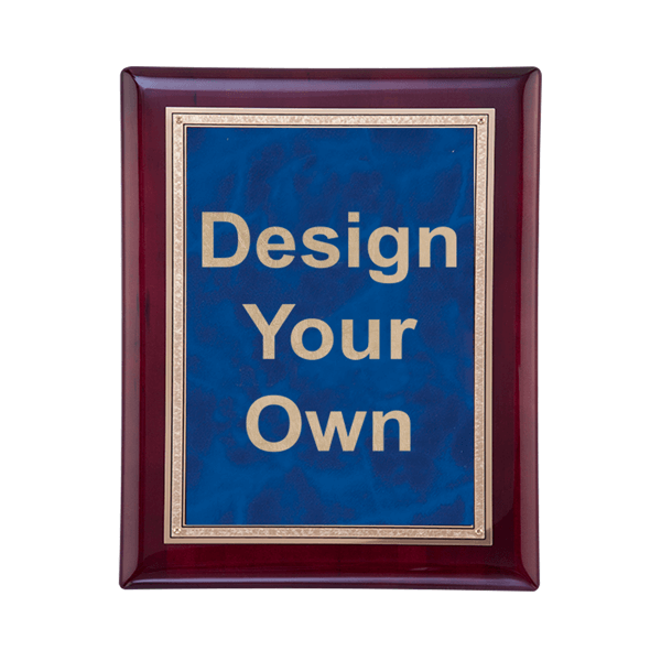 Rosewood and Sapphire Plaque 7x9 size