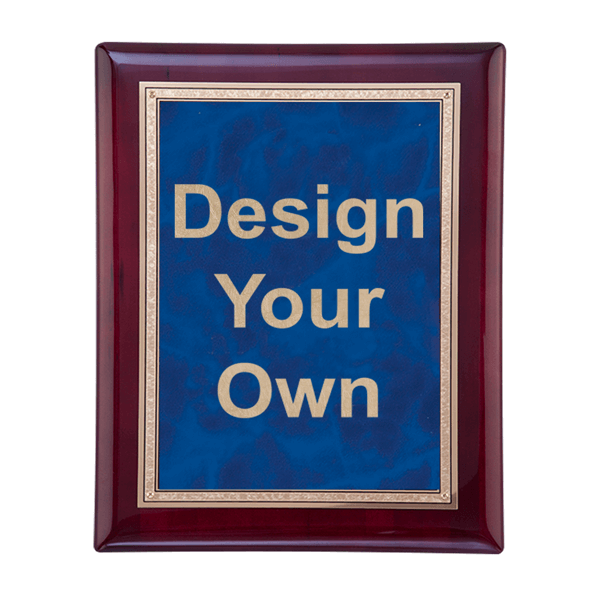 Rosewood and Sapphire Plaque 8x10